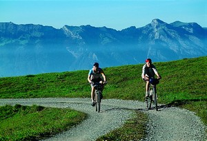 Mountain biking in the Liechtenstein mountains