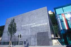 The National Art Musuem in the centre of Vaduz